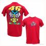 Camiseta Vermelha M Valentino Rossi The Doc 46 Peixe Motogp