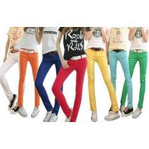 Calça Jeans Color Skynni Tamanho 40