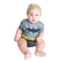 Batman Héroi Fantasia Body C/capa Curta P/bebê Sulamericana