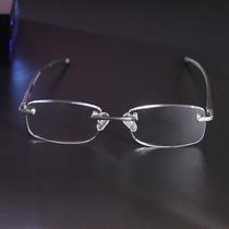 Óculos De Leitura Grau +2.50 Sem Aro Em Alumínio Com Molas