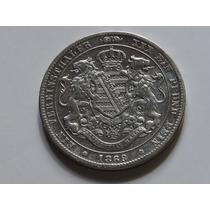 Alemanha 1 Thaler Saxonia 1869b 18,4 Gr Prata 925