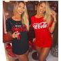 Camiseta Feminina Despojada Moda Instagram Coca Cola
