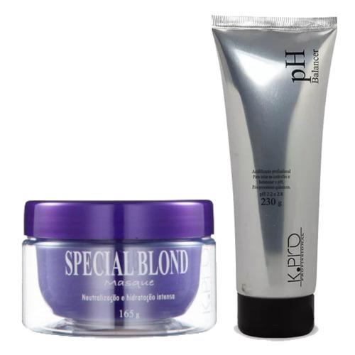 40e782245f Máscara Special Blond 165gr + Ph Acidificante 230 G - K.pro. R  88.9