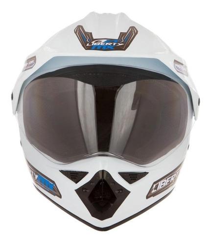 Capacete Para Moto Cross Pro Tork Liberty Mx Pro Vision Branco  L
