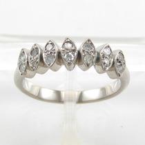 Esfinge Jóias - Anel De Diamantes Aro11 Ouro Branco 18k 750.