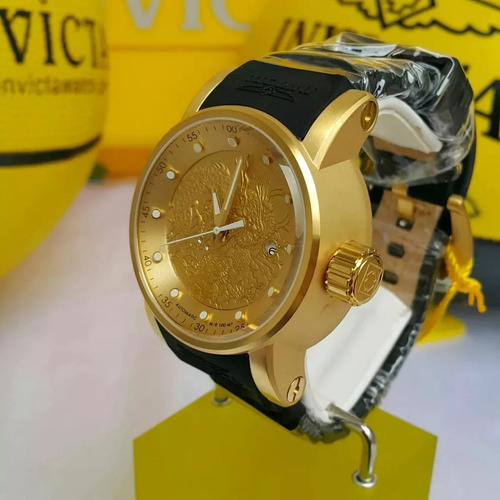 11f6be7c38f Relógio Invicta Automático Yakuza 12790 15863 Banhado Ouro. Preço  R  2295  Veja MercadoLibre
