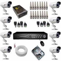 Kit 8 Câmeras Monitoramento Dvr Acesso Nuvem