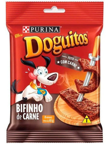 Petisco Nestlé Purina Doguitos Bifinho De Carne Para Cães - 65 G