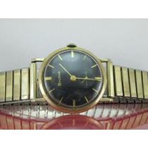 Relógio Bulova G972074 Anos 1960 Folheado A Ouro