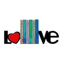 Suporte Aparador De Livros Dvd Cd Decorativo Love