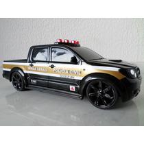 Miniatura Viatura Pcmg Caminhonete- Policia Civil De Minas