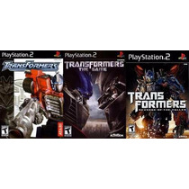 Transformers The Game Play Station 2 (kit 3 Jogos Ps2)