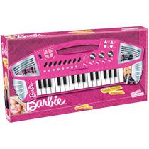 Barbie Teclado Grande - Grava E Reproduz