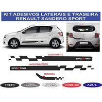 Acessorios Renault Sandero Faixas Laterais Adesivo Sport Kit