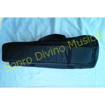 Capa Case Master Luxo Couro Pelucia P/ Trombone Curto Weril
