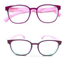 e1140e448 Armação Óculos Grau Flexível Silicone Infantil Menina S8158p