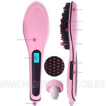 Nova Escova Alisadora Com Display Lcd Magic Hair Lançamento