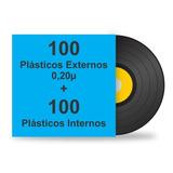 200 Plásticos Para Lp Disco Vinil. 100 Ext. Grosso + 100 Int