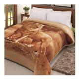 Cobertor Jolitex Ternille Tradicional Casal Colorido Leão