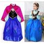Vestido Princesa Ana Frozen De Festa - A Pronta Entrega