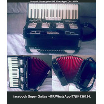 Acordeon Todeschini Super 5 Selo Verde Preta Original .