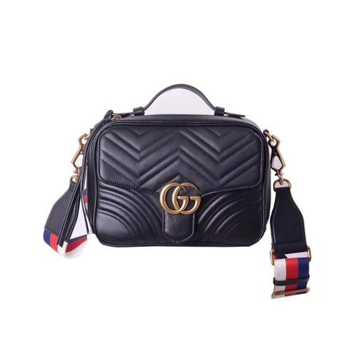 7d30f27e2c0a3 Bolsa Gucci Gg Marmont Feminina Couro Grande -pronta Entrega - R ...
