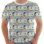 Camiseta 1733 100 Dolár Money Pato Donald Desenho Duck Color