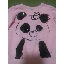 Casaco Moletom Rosa Com Urso Panda 2 Anos Malvee
