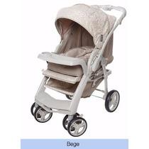 Carrinho Bebê Galzerano Optimus Bege Travelsystem Reversível