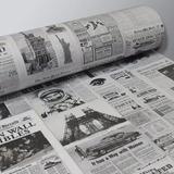 Papel De Parede Adesivo Jornal Vintage 0,58 X 3,00m
