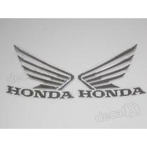 Adesivos Asa Honda Tanque Hornet 2013 Resinado Cromado