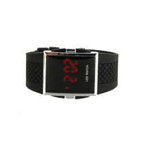 Relógio Masculino Digital Led De Aço Inoxidável (preto)