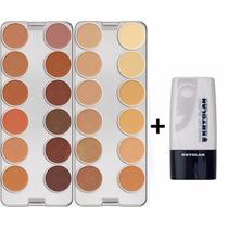 Kryolan Dermacolor Paleta K 24 Cores + Diluidor Makeup Blend