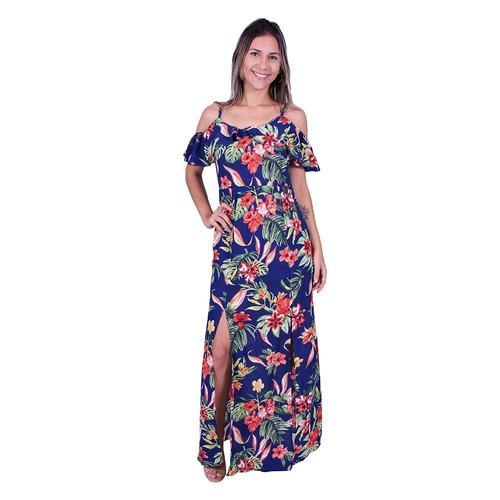 f8283c22b4c Vestido Longo Estampado Valentina Va-6192 - Asya Fashion