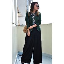 Calça Feminina Pantalona Preta + Frete Grátis