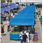 Lona Ck 300 Azul Impermeável Para Barraca De Feira 3,5x2 M