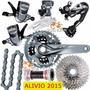 Grupo Shimano Alivio 2015 M4050 27v Freio M575 S/ Cubo Disco