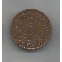 Moeda Da Suécia. Ano 1861. 2 Ore. Muito Bem Conservada.