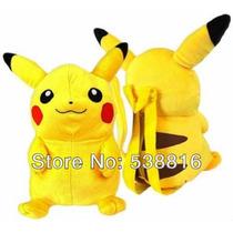 Mochila Pokemon Go Do Desenho 45cm Pikachu Brinquedos De Pel