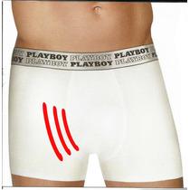 Cueca Enchimento Frontal Boxer Playboy Branca Ou Preta