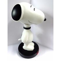 Enfeite Estátua Snoopy Peanuts Resina Original Move A Cabeça