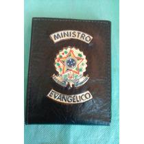 Cc035 Porta Notas Documento Couro Ministro Evangélico