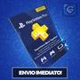 Cartão Psn - Playstation Network Plus 1 Mês - Envio Imediato