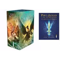 Box Percy Jackson + Arquivos Semideus 7 Livros Frete Grátis