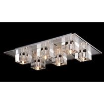 Lustre Shira Metal + Vidro 6 Lampadas ( + Luz )
