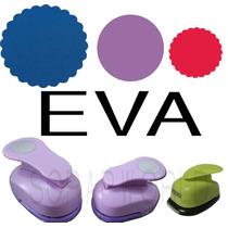 Furador Eva Circulo Escalop 5 Cm +liso 3,8 Cm+ Escalop 2,5cm