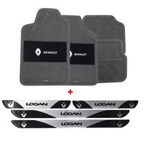 Jogo Tapete Renault Logan 07 08 09 10 11 12 Pvc + Soleira