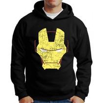 Blusa De Moleton Man Homem Iron De Ferro Super Heróis