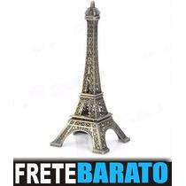 Torre Eiffel Paris Metal Miniatura Decoração Presente 26cm