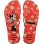 Havaianas Minnie Chinelo Feminino Slim Disney Vermelho Crush Original